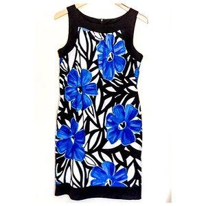 ❤️Beautiful blue black white floral print dress❤️